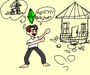 Sims man wants house