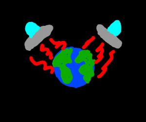 Aliens destroy earth