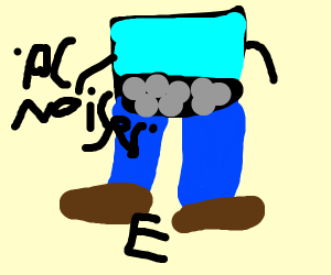 Computer with pants