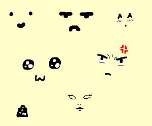 A ton of faces