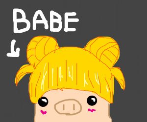 Babe bears blonde bangs & buns