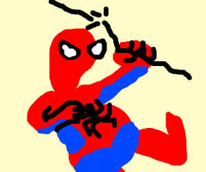Fat Spiderman is too heavy for his web