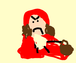 evil red riding hood