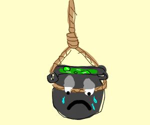 A suicidal cauldron