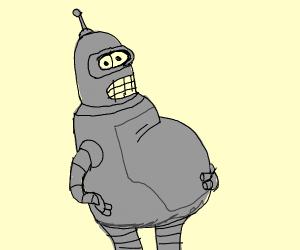 Pregnant robot