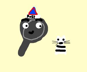postman pan and his cat