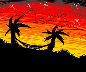 Nighttime in paradise