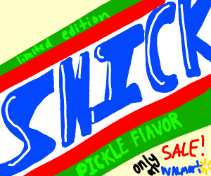 Sale from walmart: Pickle-flavor snickers
