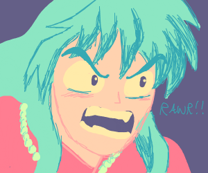 Angry anime dude rawrs at you
