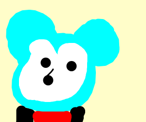 Mickey mouse with blue face mask