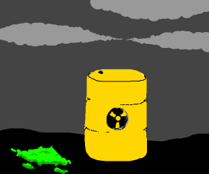 Toxic Waste Barrel w/50 percent waste