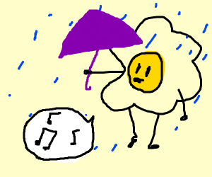 egg man singing in the rain
