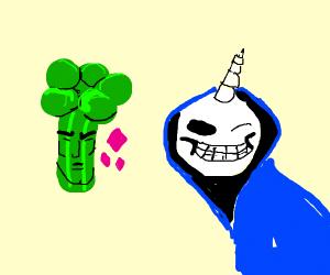 Handsome broccoli and Sans unicorn
