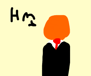 "orange slenderman goes ""Hm"""