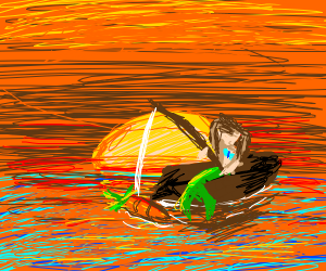 mermaid fishing with carrots