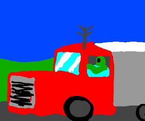 Alien Gets Job As Truck Driver