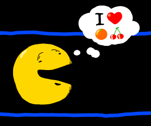 Pacman loves oranges and cherries