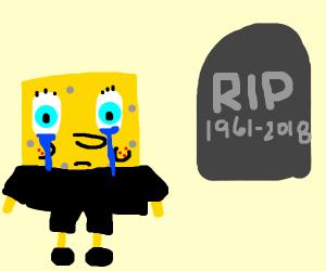 SpongebobSayingGoodbyeToStephenHillenburg :(
