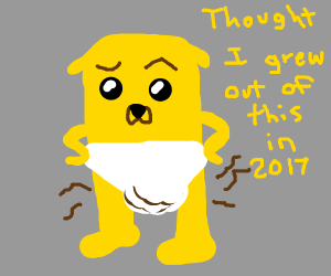 jake the dog pooped in his diaper