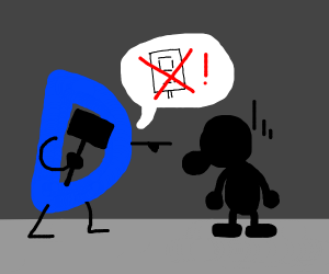 Mr. Game and Watch is scolded by Drawception.