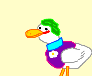 This duck lives in a society (joker)