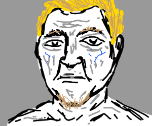 blonde man staring absently