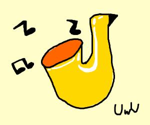 a beautiful playing sax