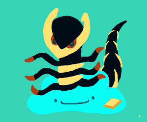 Giratina pops out of aqua ditto w/ butter