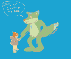 A furry about to kidnap unsuspecting child