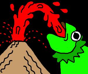 kermit drinks lava