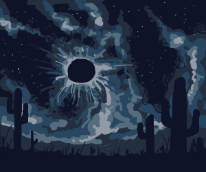 desert eclipse