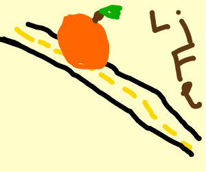 Peach down the road of Life