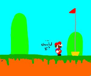 Mario contemplates ending it