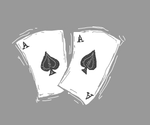 double ace playing cards