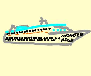 Monster high cruise ship