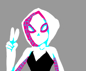 WOMAN SPIDERMAN DOS PEACE