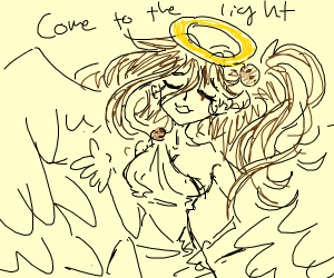 Cookie angel saying go to the light