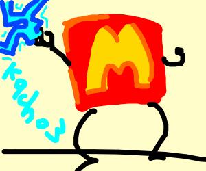 macdonalds logo has electric powers