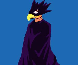 Edgy black bird