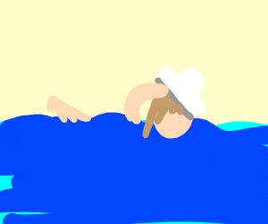 Archaeologist Swimming