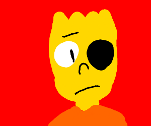Bart only has one eye