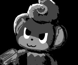 Pansear (Pokemon) with gun