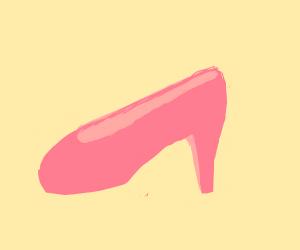 A pink heel