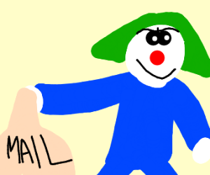 The joker becomes a mailman
