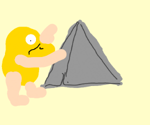 Duckman worshipping at pyramid