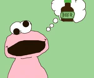 Cookie monster wants beer