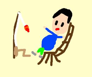 Pregnant Fisherman