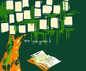 Tree reading book