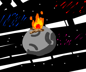 fireplace in space