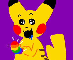 Very hungry Picachu (pokemon)